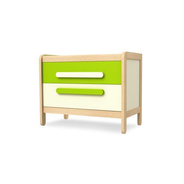 Timoore Kommode Simple mit 2 Schubladen in 4 Farben