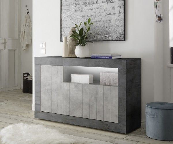 Sideboard/ TV-Möbel LEONELLO, Ossido-Beton-Optik