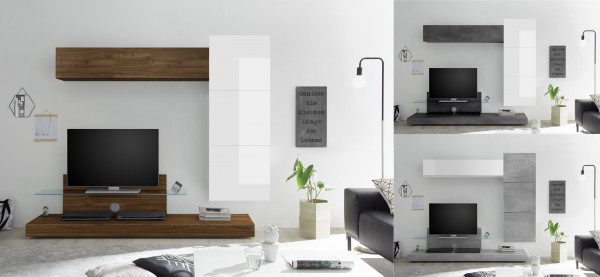 Wohnwand INFINITY 5-tlg, 4 Farben