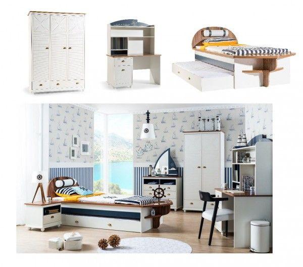 schlafzimmer f r jungs admiral 3 tlg m bel zeit. Black Bedroom Furniture Sets. Home Design Ideas