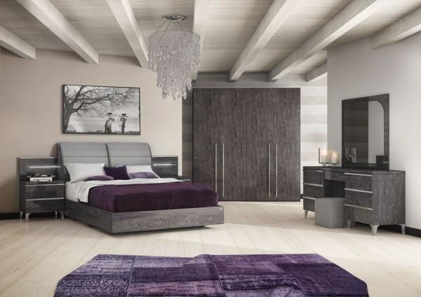 Schlafzimmer – Set ELITE GREY BIRCH I, italienische luxus Möbel