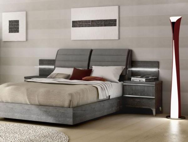 Bett ELITE GREY BIRCH, italienische luxus Möbel
