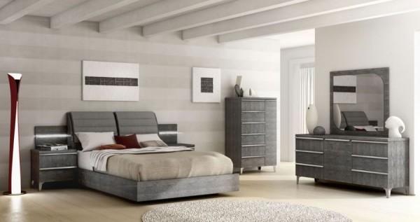 Schlafzimmer – Set ELITE GREY BIRCH II, italienische luxus Möbel