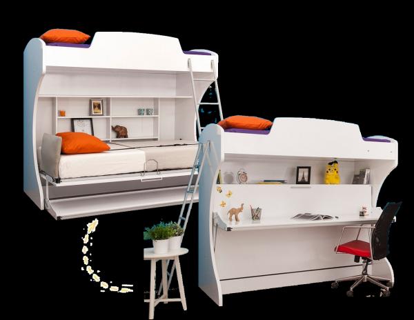 Multimo DIVA ACADEMY Etagenbett mit Schreibtisch