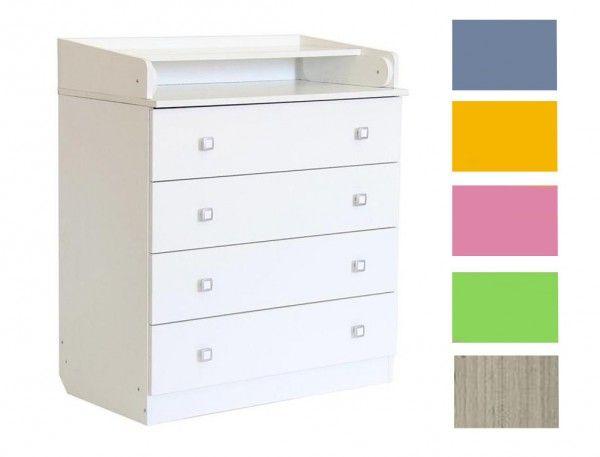 Kommode SIMPLY mit Wickelaufsatz, 6 Farben