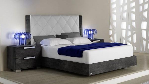 Bett SARAH GREY BIRCH III, italienische luxus Möbel