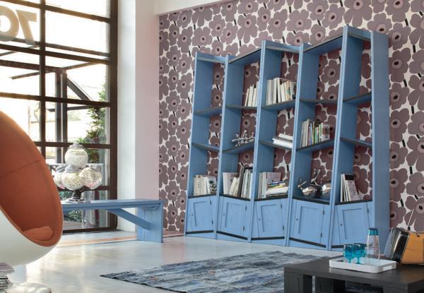 Bücherregal aus Eiche UNIKA, Handarbeit, italienisches Design