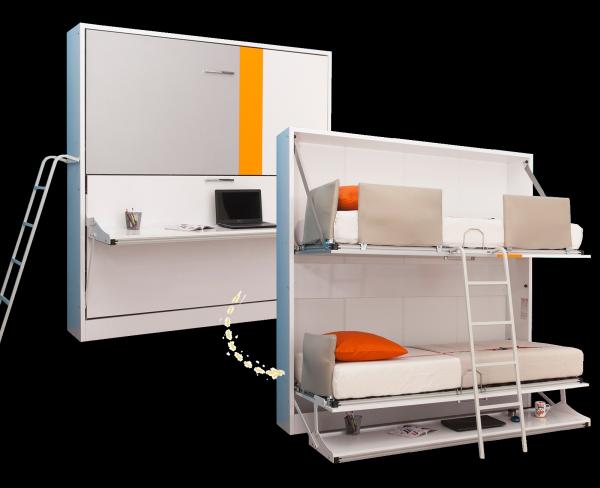 Multimo DIVA BUNK Etagenbett mit Schreibtisch