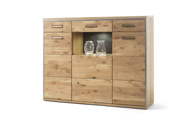 Highboard ESPERO, Ast-Eiche Bianco