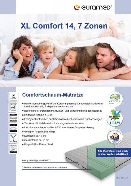 XL Comfort 7 Zonen Kaltschaummatratze 90x190-200 cm