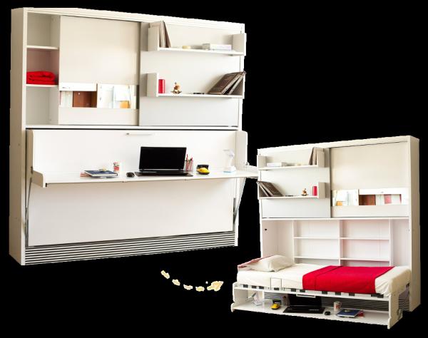 Multimo DIVA ACADEMY Schrankbett mit Schreibtisch