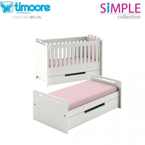 Timoore Babybett Simple umbaubar zum Juniorbett | Möbel Zeit