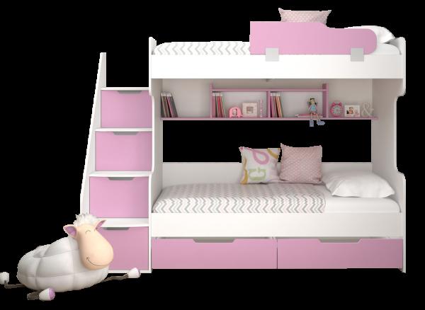 Etagenbett HAPPY in pink