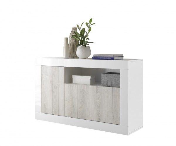 Sideboard/ TV-Möbel LEONELLO, Pinie Weiß