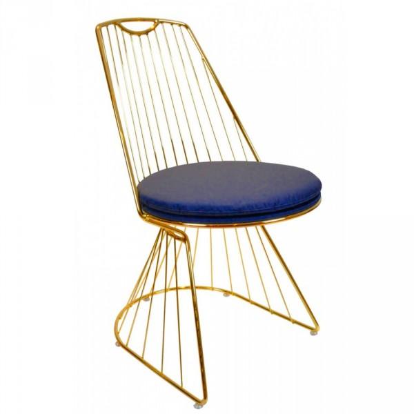 Almila ELEGANT BLUE Design Stuhl