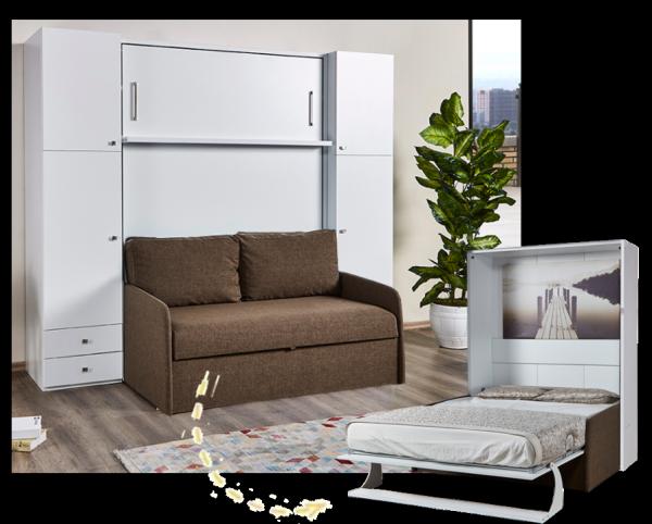 Multimo DIVA DOUBLE Set inkl. Bett, Sofa und Schränke