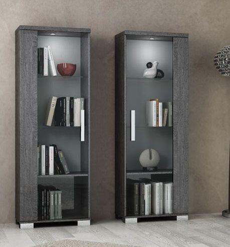 Vitrine SARAH GREY BIRCH, italienische luxus Möbel, klein