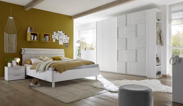 Schlafzimmer FRELI 3D, Holzstruktur grau