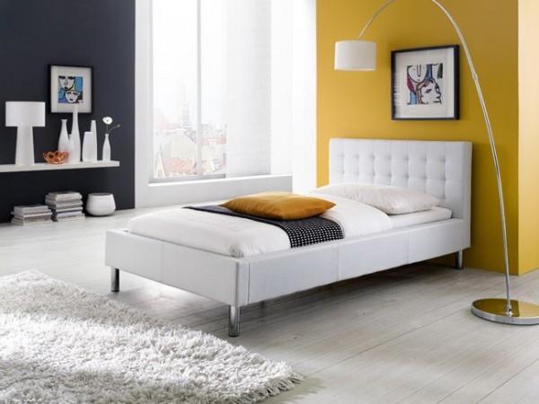 Polsterbett LISA, 5 Großen, schwarz oder weiß