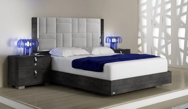 Bett SARAH GREY BIRCH II, italienische luxus Möbel
