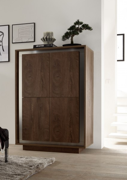 Highboard ADORATA in Eiche Cognac