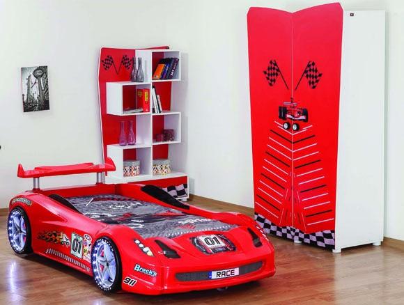 Kinderzimmer Rally II 3-teilig ROT | Möbel Zeit