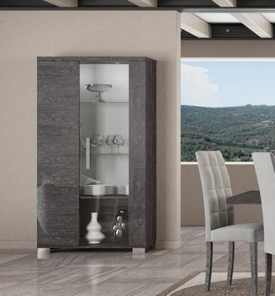 Vitrine SARAH GREY BIRCH, italienische luxus Möbel, groß