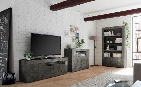 Wohnzimmer LEONELLO mit LED, Ossido