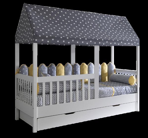 Kinderbett MAYA Hausbett mit Gästebett