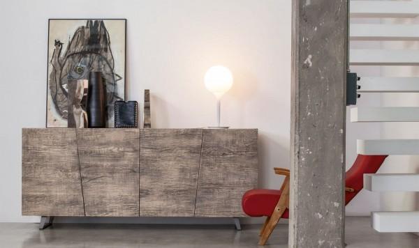 Sideboard aus Eiche UNIKA, Handarbeit, italienisches Design