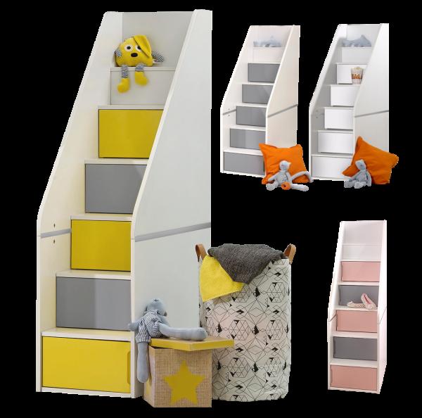 Treppe für Hochbett PUZZLE, 4 Farben
