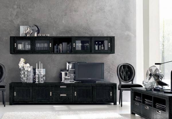 Wohnwand HOLAND, Kombinationsvorschlag lV, 2-tlg., italienisches Design