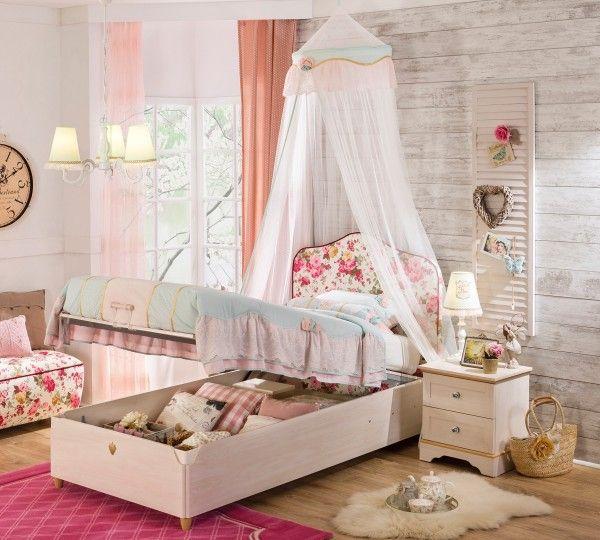 cilek flora bett mit bettkasten 100x200 cm m bel zeit. Black Bedroom Furniture Sets. Home Design Ideas