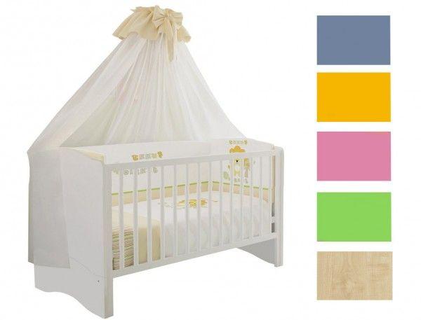 Gitterbett SIMPLY, 70x140 cm, Umbaubar zum Kinderbett