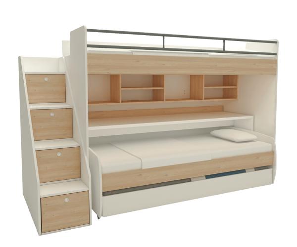 Multimo IKON Set Etagenbett mit Schreibtisch