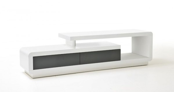 TV-Lowboard NICOLE, Hochglanz, 2 Farben