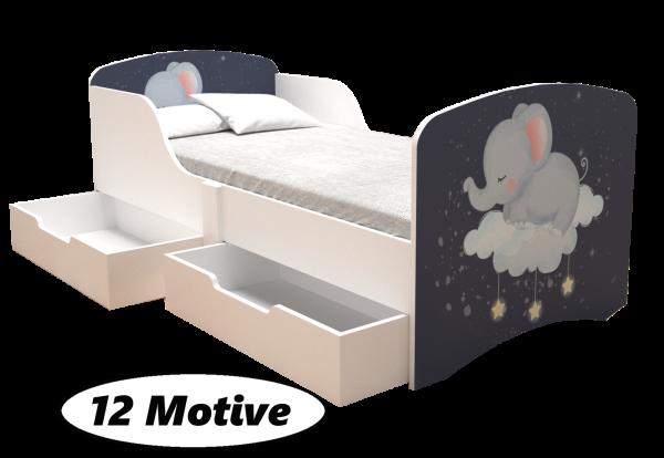 Kinderbett ELLY mit Schubladen, 12 Motive