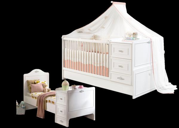Cilek ROMANTICA mitwachsendes Babybett, 75x160 cm