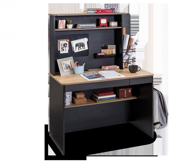 Cilek BLACK Schreibtisch mit Aufsatz