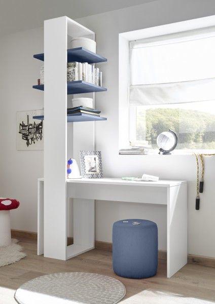 Regal FRELI mit 3 Böden, blau/ weiß