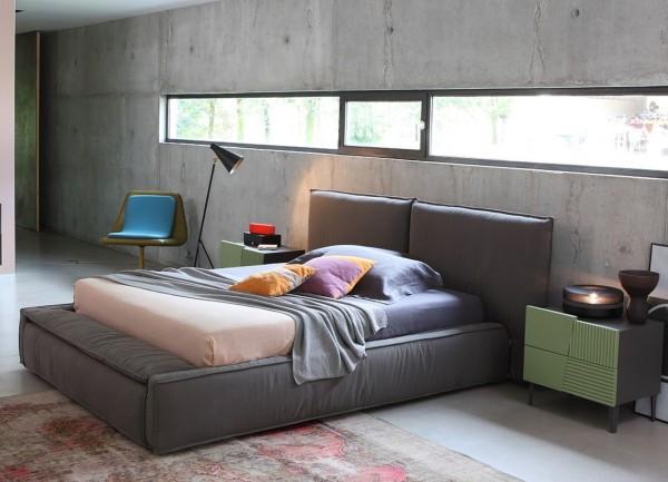 Bett ZERO.16, italienisches Design, 2 Größen