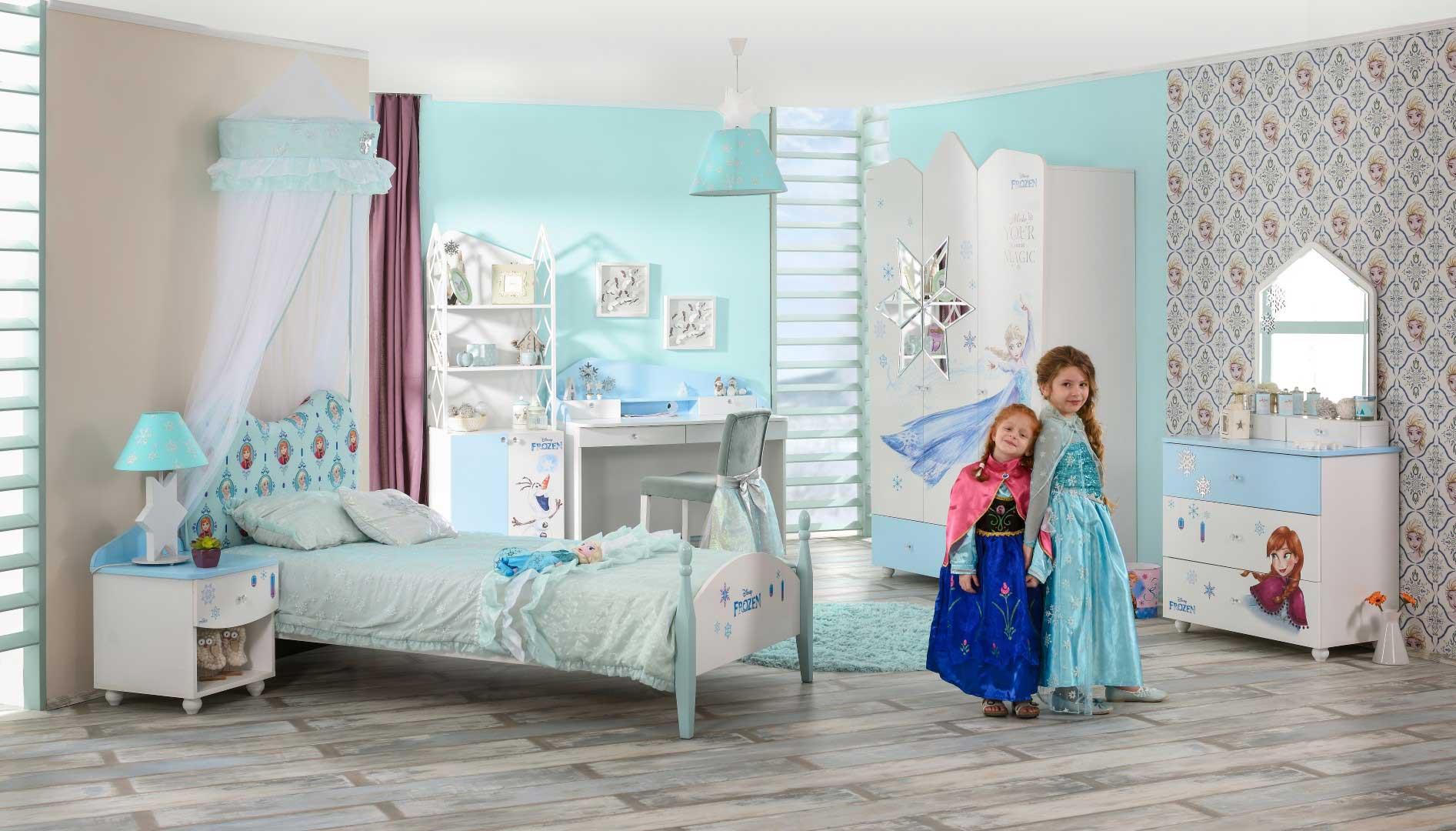 Eiskönigen: ANNA und ELSA Kinderbett, 90x200 cm