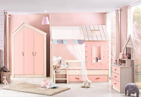 Kinderzimmer PINK HOUSE, 3-teilig