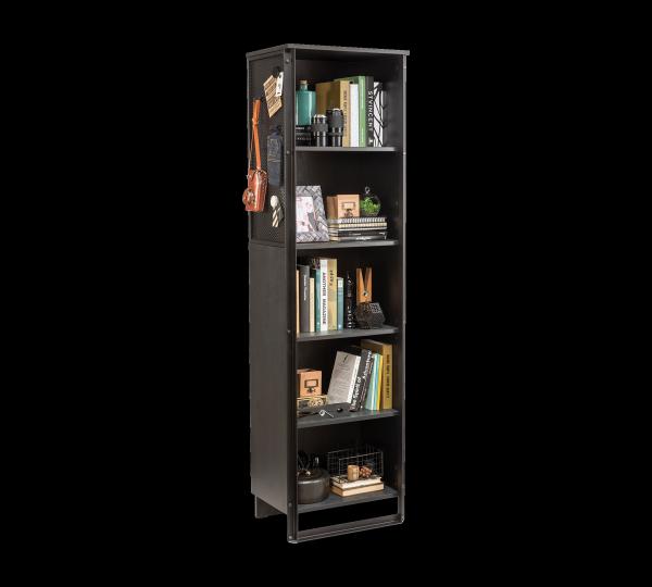 Cilek Dark Metal Bücherregal mit Magnetboard