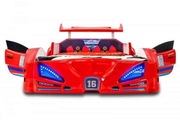 Autobett VERON XRF-3 Rot mit Türen