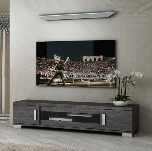 Lowboard SARAH GREY BIRCH, italienische luxus Möbel, groß
