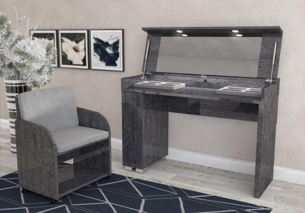 Schminktisch SARAH GREY BIRCH, italienische luxus Möbel