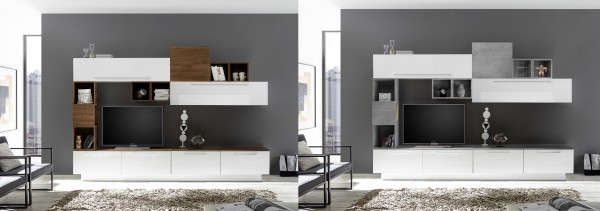 Wohnwand INFINITY 8-tlg, 4 Farben