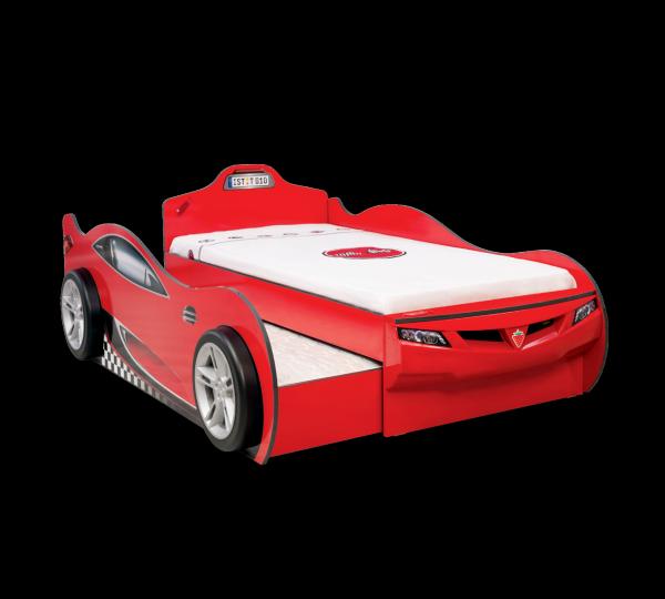 Cilek Coupe Autobett + Gästebett ROT