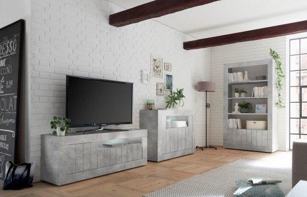 Wohnzimmer LEONELLO, Beton-Optik